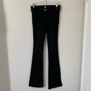 Veronica Beard Charcoal Gray Flare Jeans